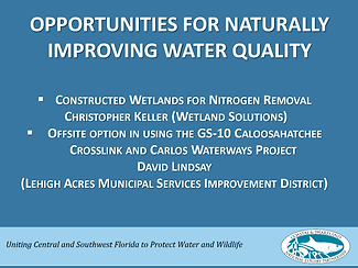 Opportunities for naturally improving water quality first slide of presentation