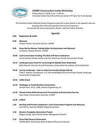 CHNEP Conservation Lands Workshop Agenda