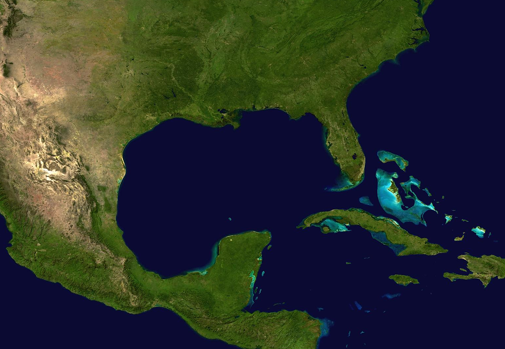Aerial view of Southeast US