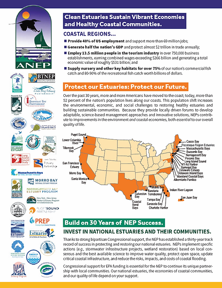 National Estuary Program fact sheet. Click to open the fact sheet.