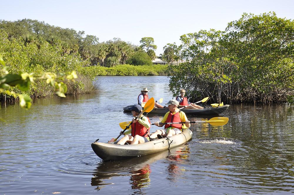 CHNEP Volunteers kayaking