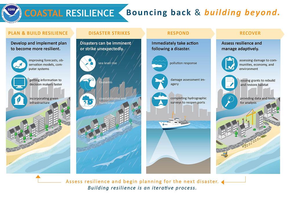 NOAA graphic on Coastal resilience