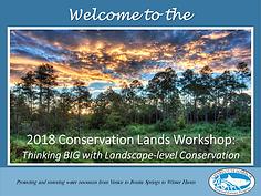 Conservation Lands Workshop Welcome presentation