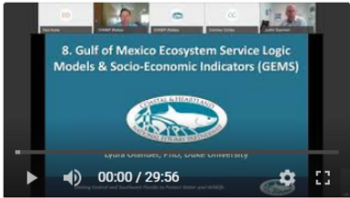 Presentation on the Gulf of Mexico Ecosystem Service Logic Models and Socio-Economic Indicators (GEMS) by Dr. Olander