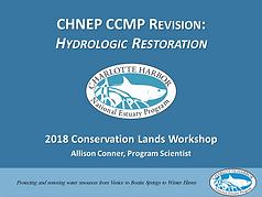 CHNEP CCMP Revision: Hydrological Restoration Presentation