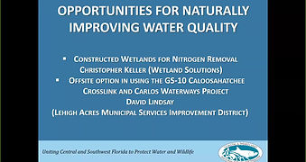 OPPORTUNITIES FOR NATURALLY IMPROVING WATER QUALITY presentation
