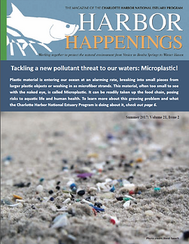 Cover of the Harbor Happenings Microplastic issue