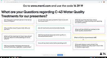 Historical C-43 water quality treatment studies presentation