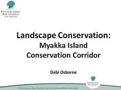 Landscape Conservation: Myakka Island Conservation Corridor presentation