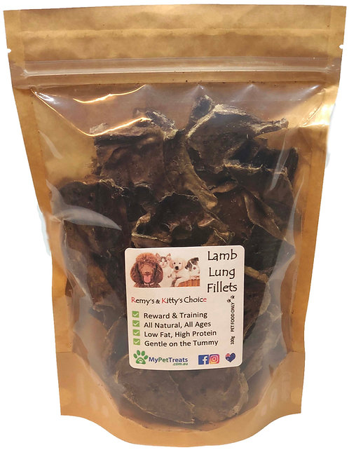 Dehydrated Lamb Lung Fillets - Premium Australian - Value Pack