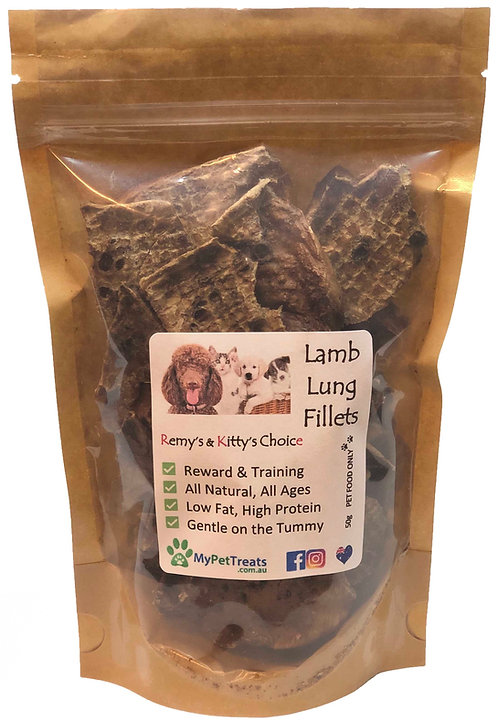 Dehydrated Lamb Lung Fillets - Premium Australian - Economy Pack