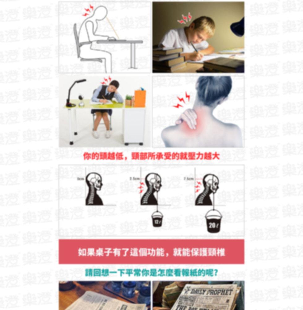 長時間低頭會增加頸部壓力,恐傷脊椎;你的頭越低,頸部所承受的就壓力越大