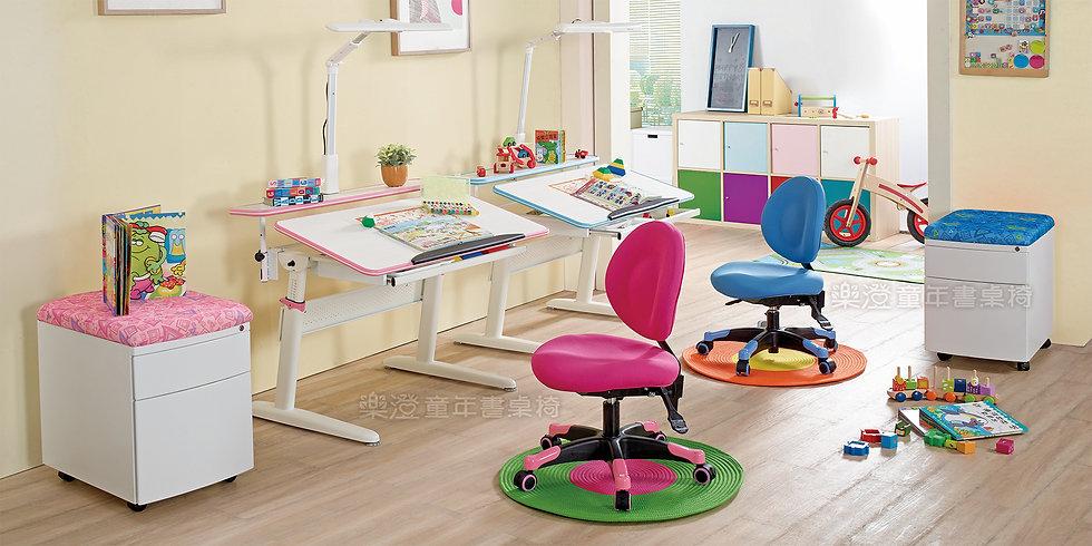 樂澄書桌 成長桌 手搖 搖桿 X2