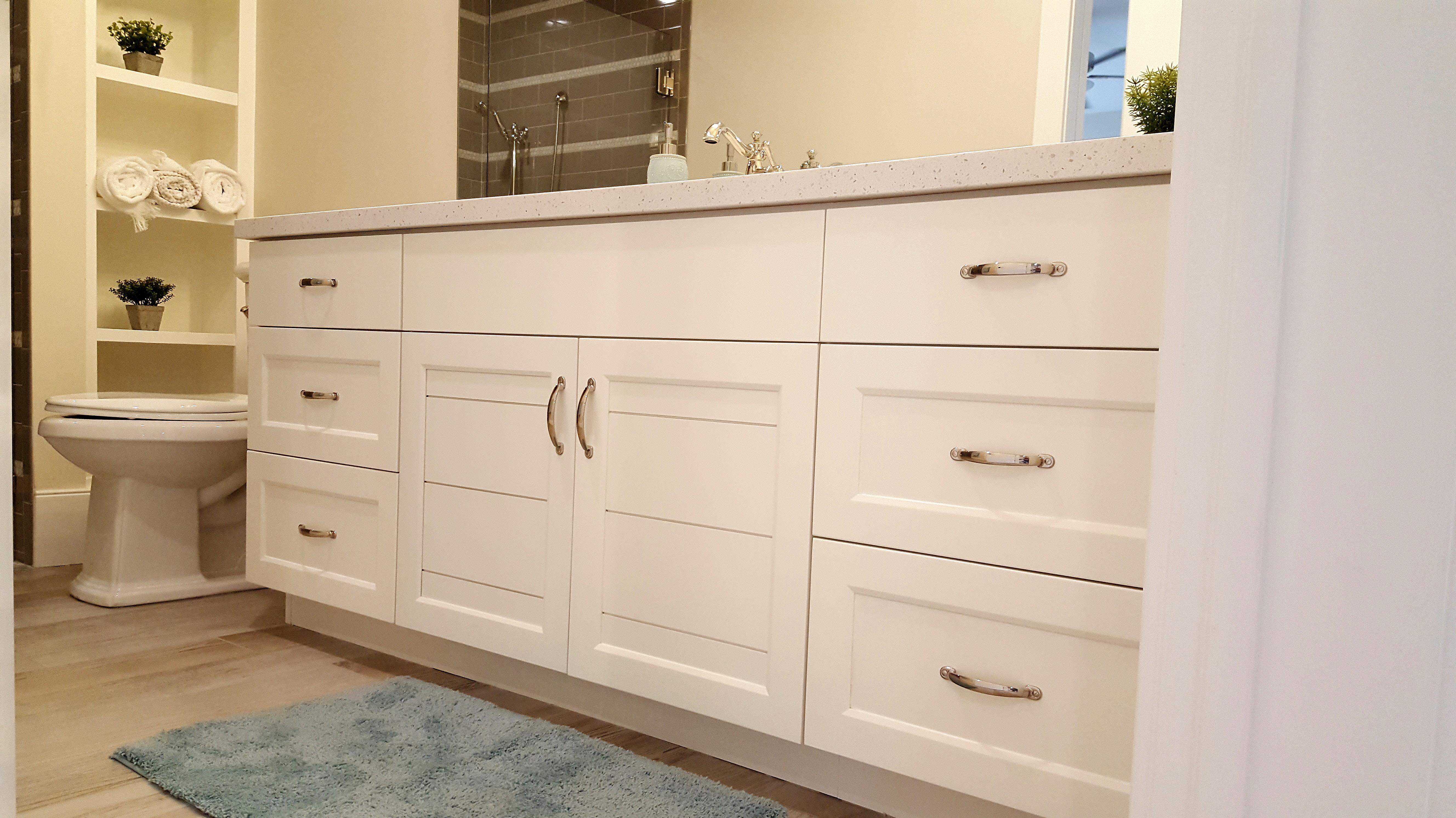 Utah custom cabinets white vanity 3