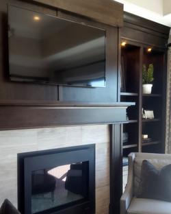 utah custom cabinets fireplace bookshelf 2