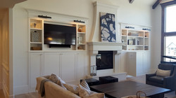 Utah custom cabinets fireplace