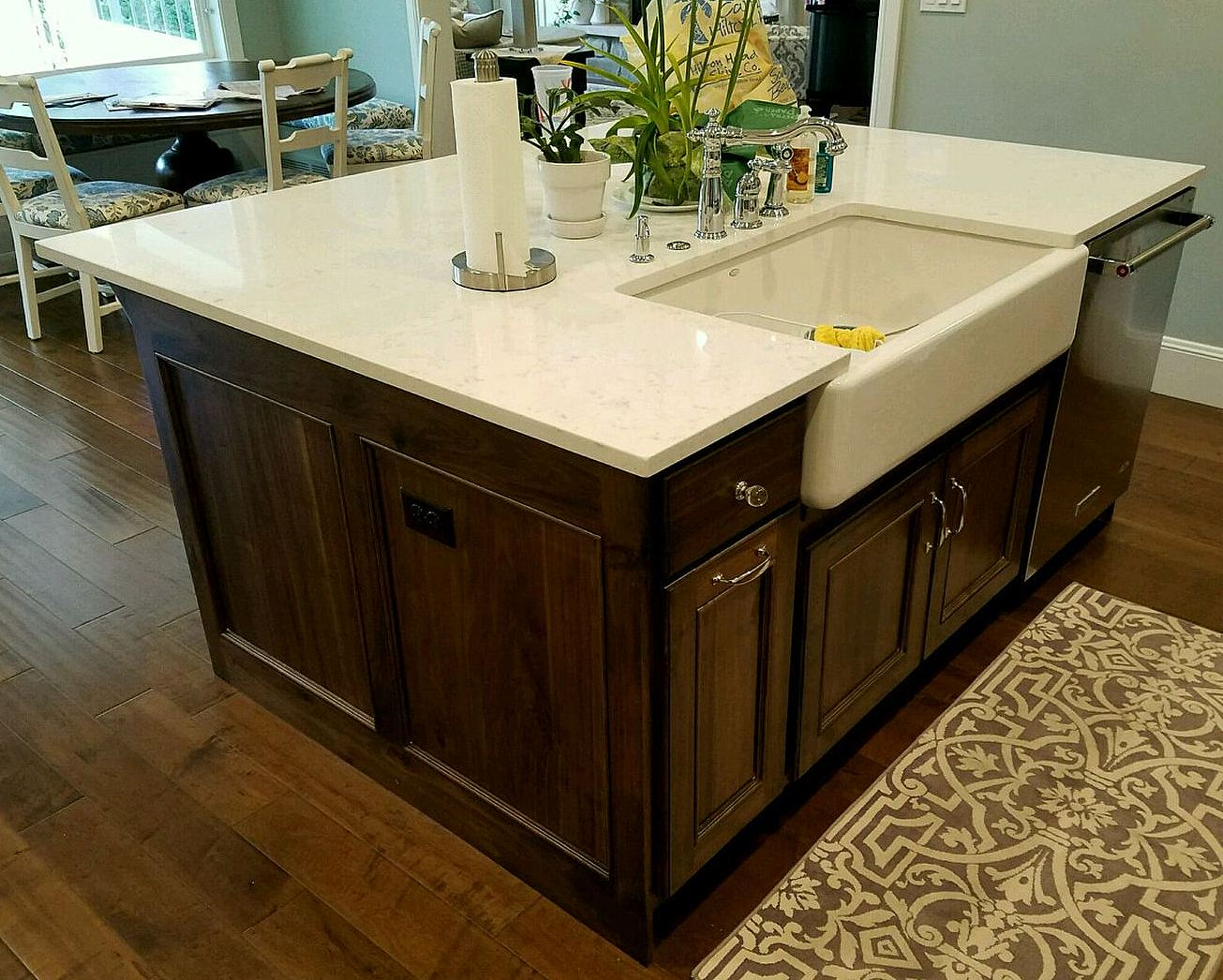 utah custom cabinets island
