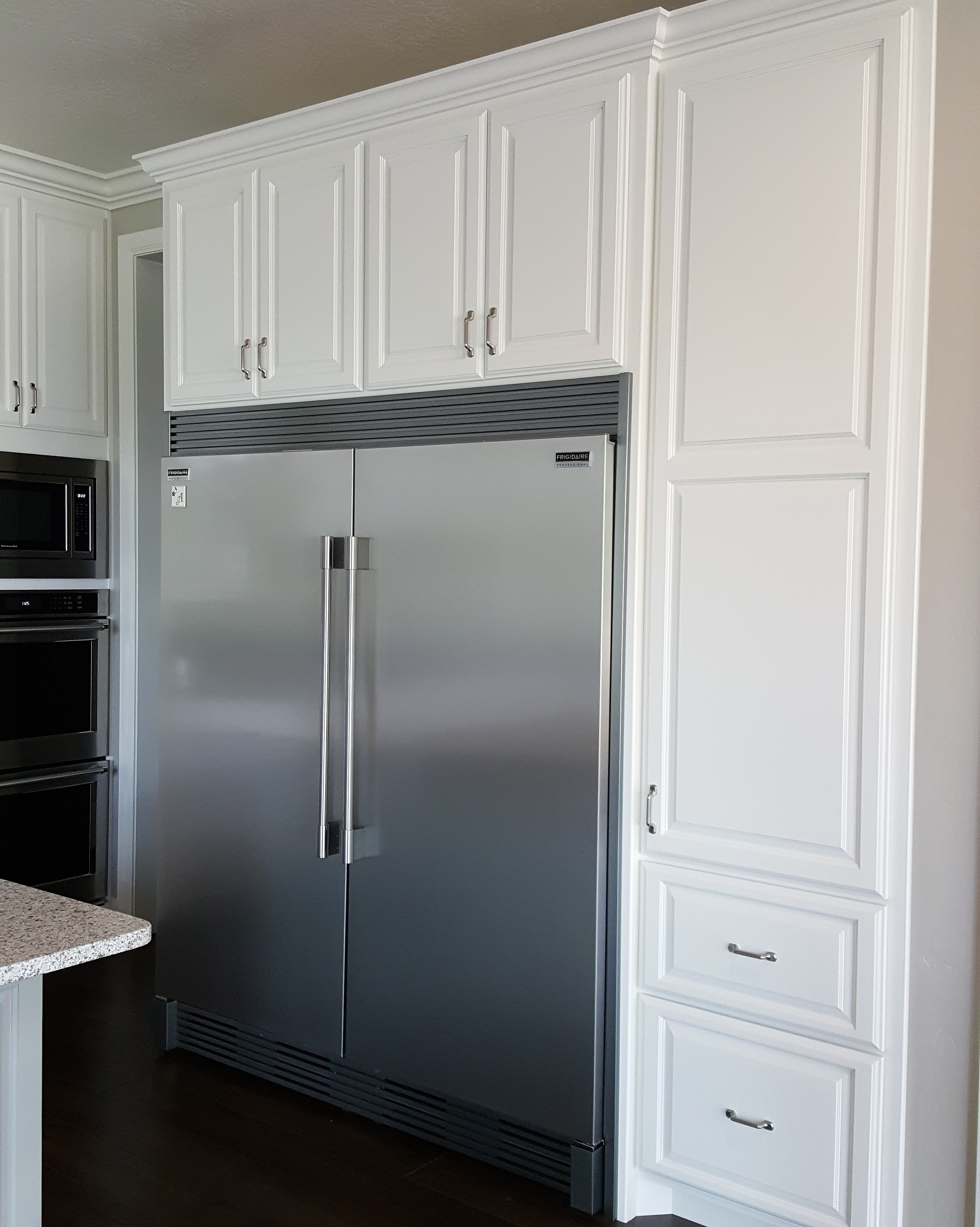 utah custom cabinets white refrigerator cabinet