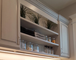 utah custom cabinets open display