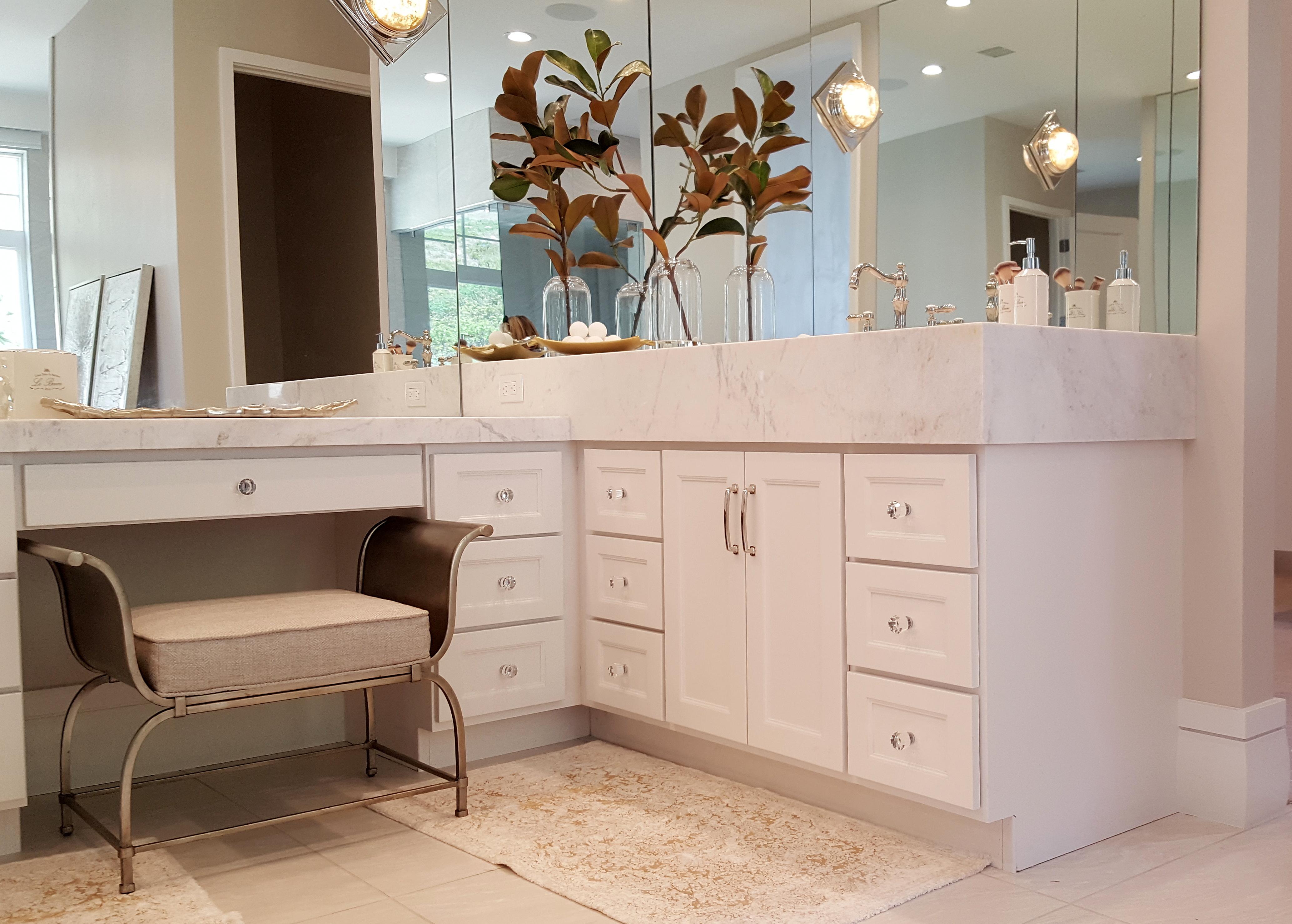 Utah custom cabinets white vanity 4