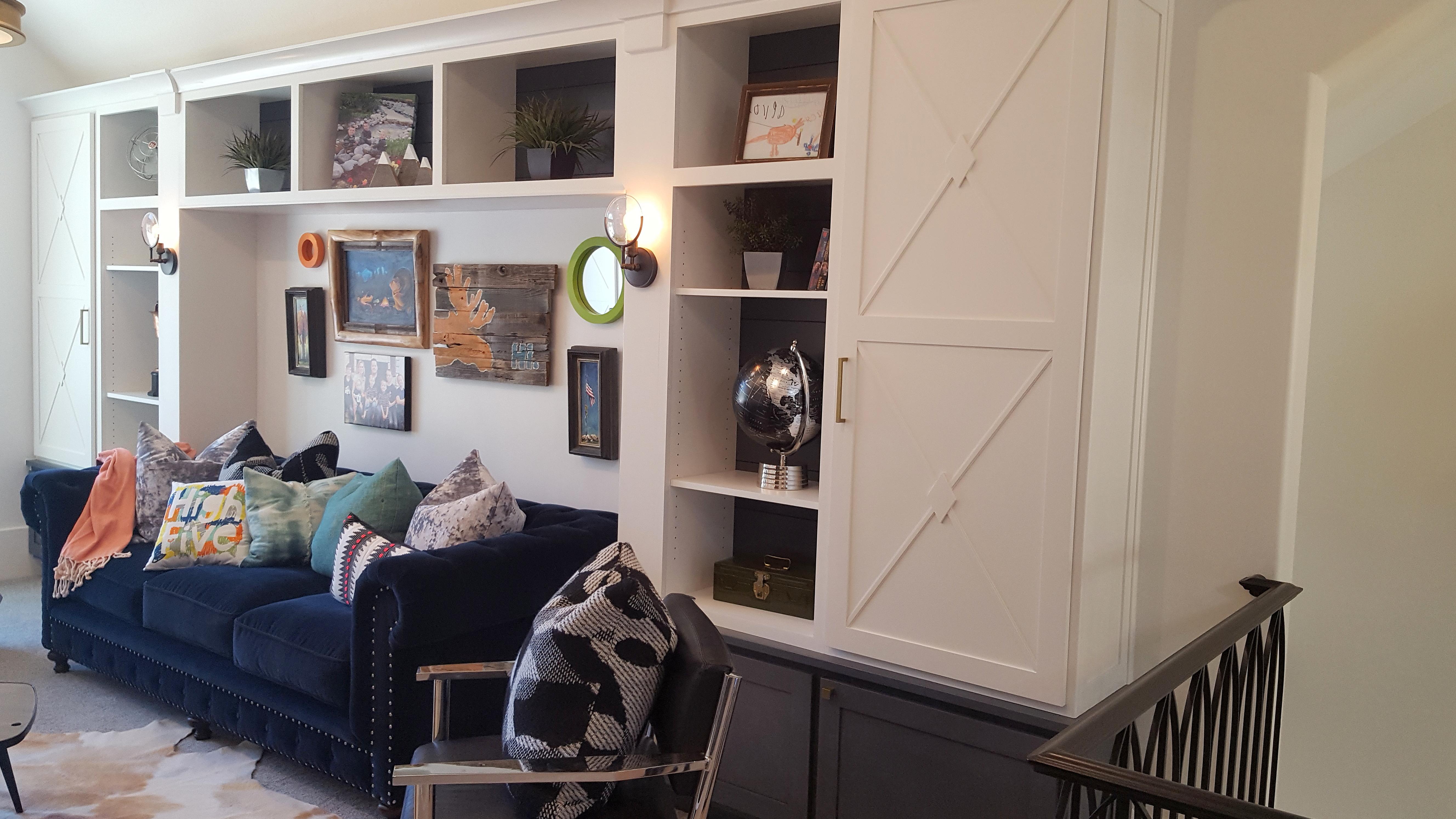Utah custom cabinets bookshelf 1