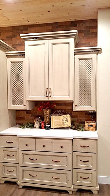 Utah custom cabinets white Hutch