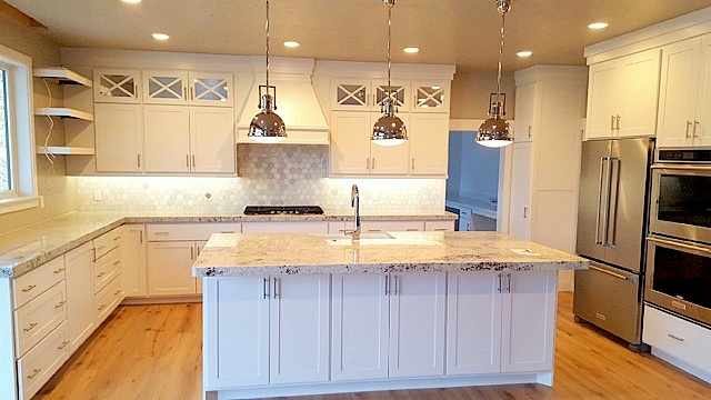 Utah custom cabinets white kitchen
