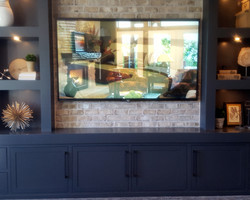 utah custom cabinets decorative shelves tv