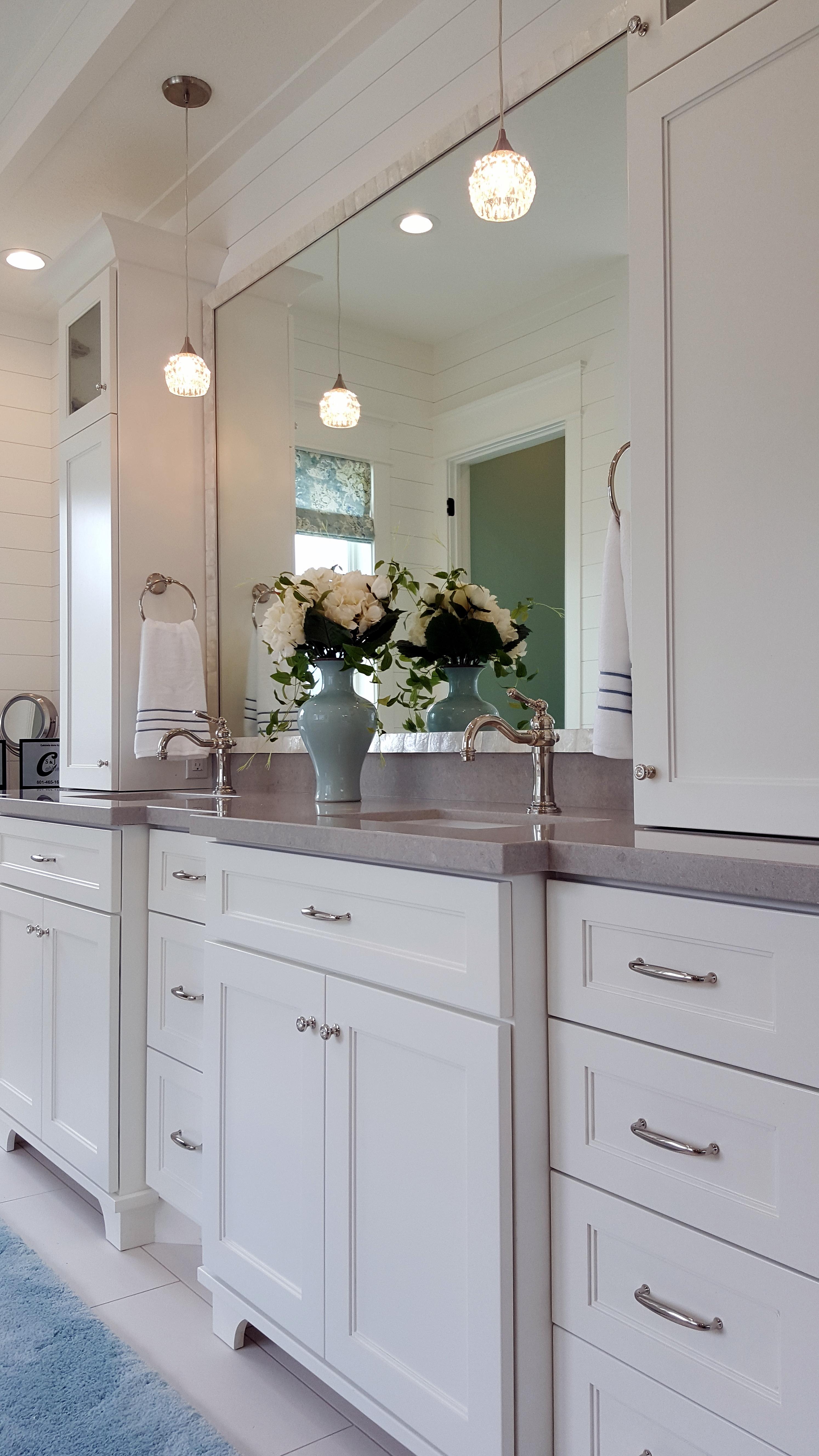 Utah custom cabinets white vanity