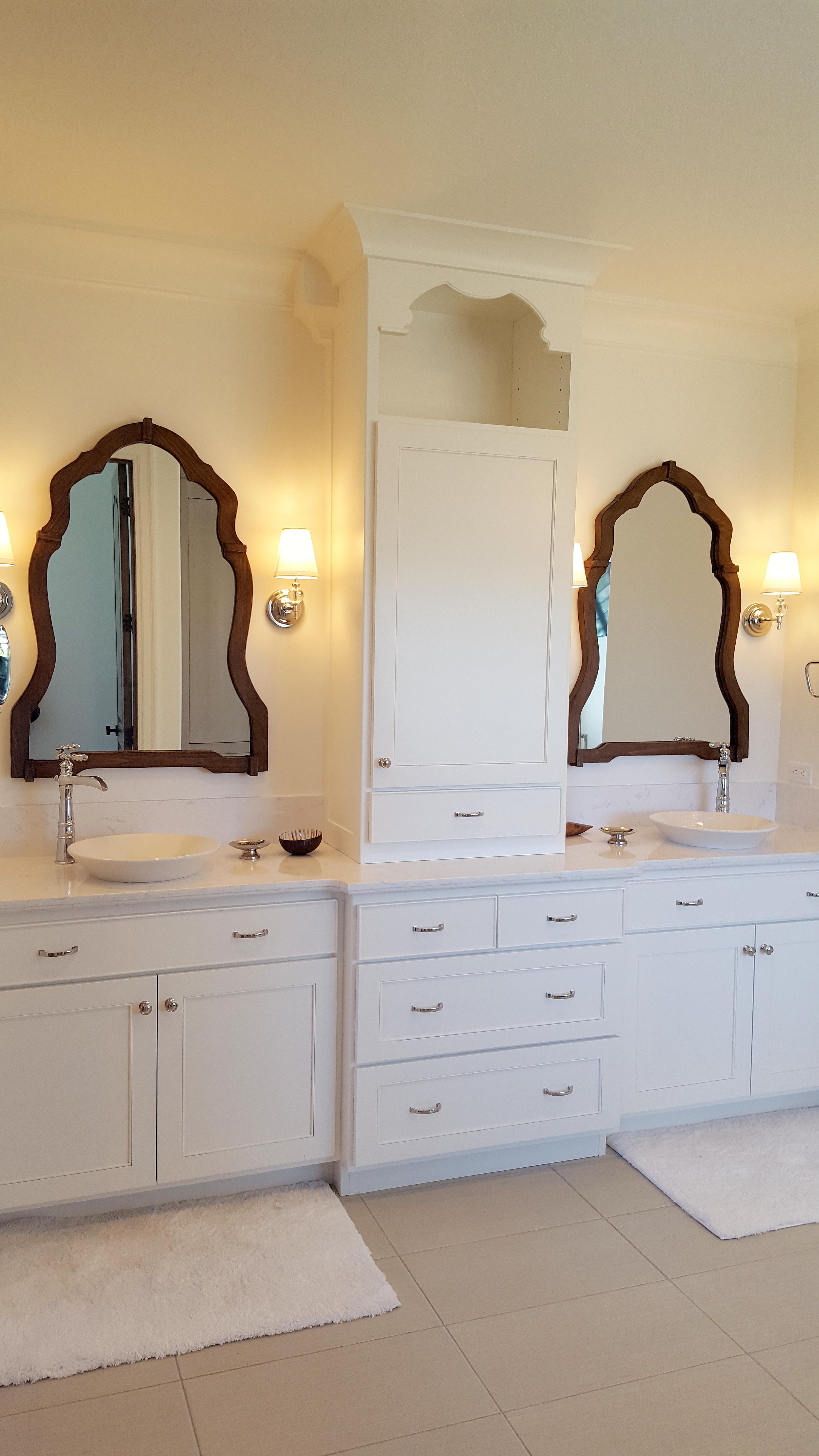 Utah custom cabinets white vanity 6
