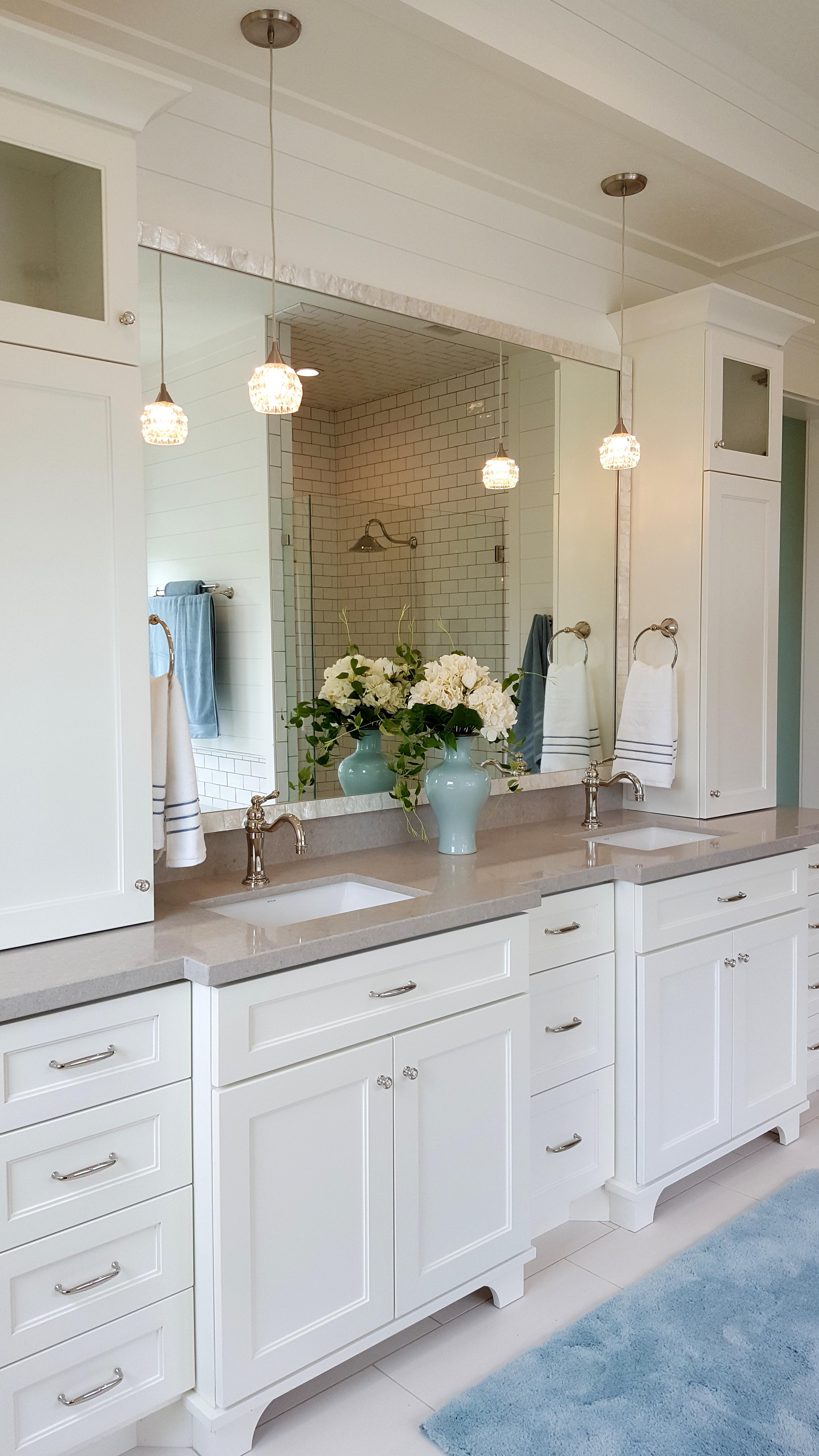 Utah custom cabinets white vanity 2