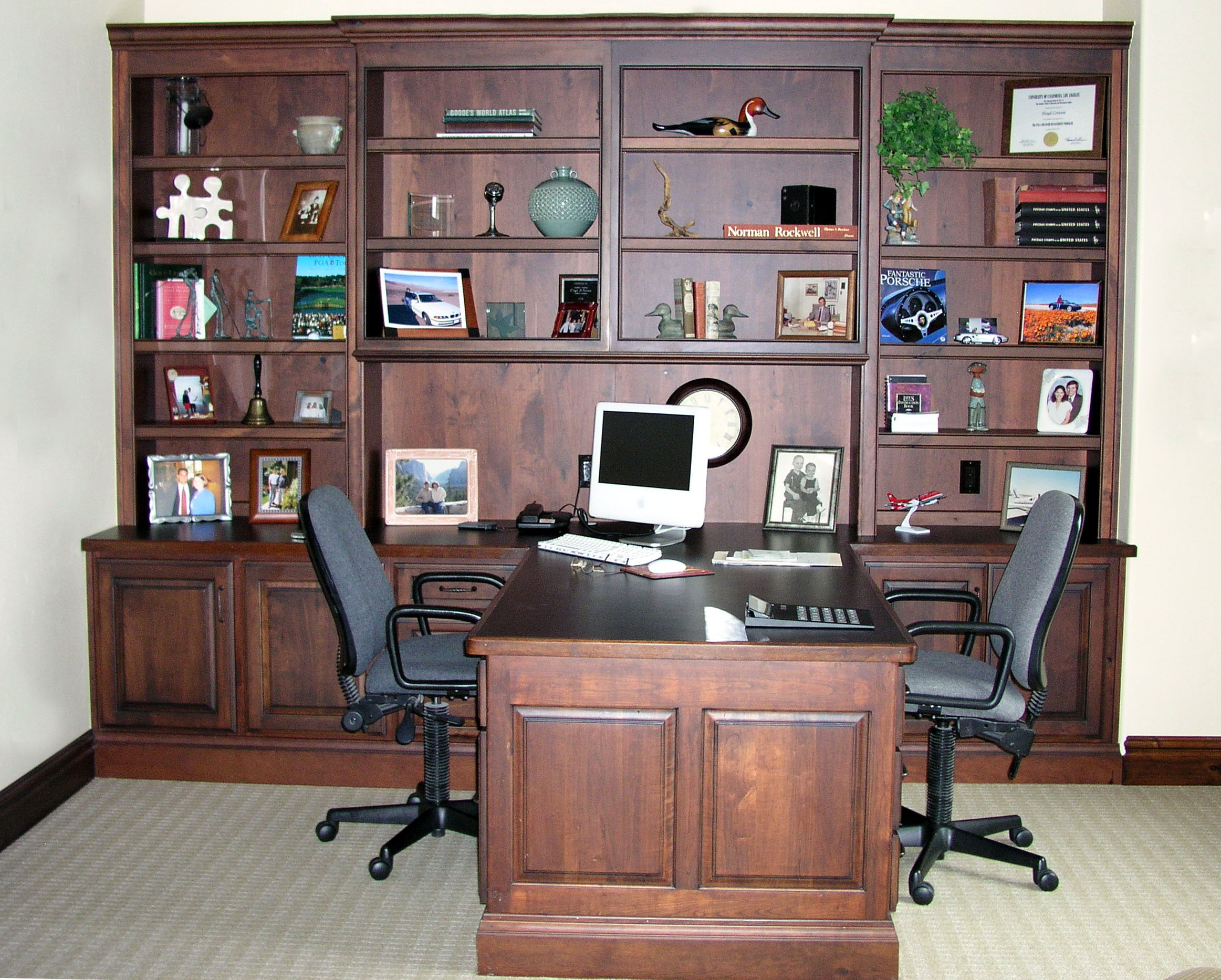 utah custom cabinets office 1
