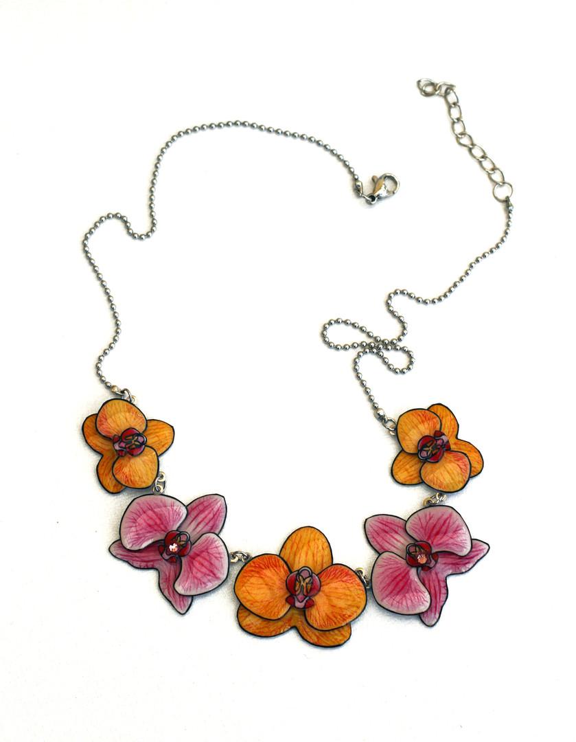 Collier orchidées