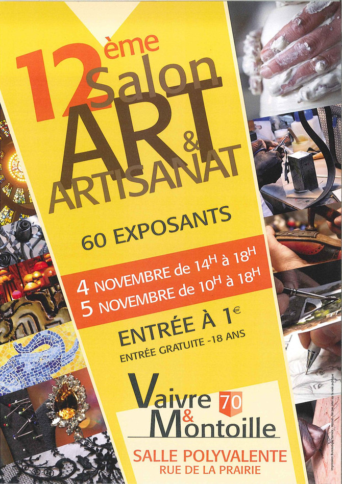 4 et 5 novembre -Salon à Vaivre et Montoille