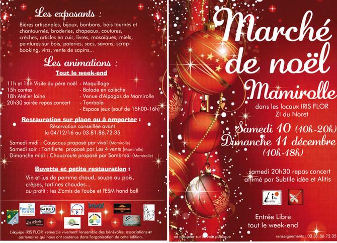 Programme du marché de Noël de Mamirolle - Iris Flor -