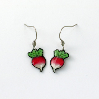 Boucles d'oreilles radis-Luna Lovegood