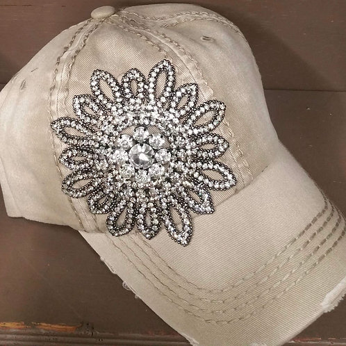 Khaki Bling Hat
