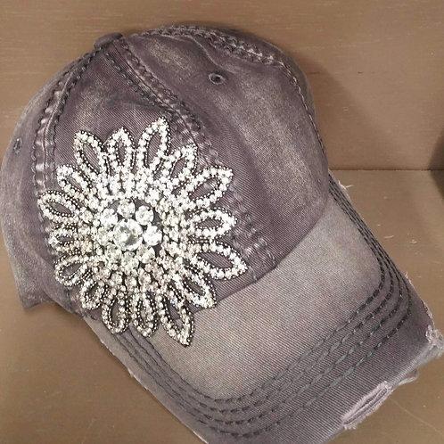 Gray Bling Hat
