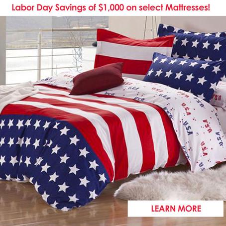 Shop Labor Day Sale at Mattress City - Save $1000 Off Select Mattresses