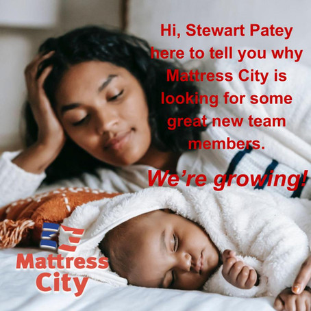 Mattress City is looking for some great new team members. We're growing!