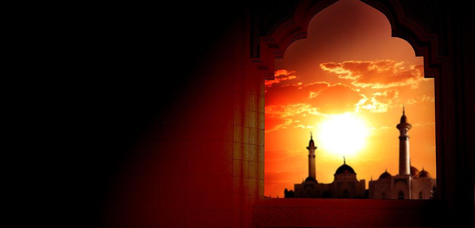 Ramadan Kareem background.Mosque window