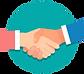 business-handshake-background-flat-style