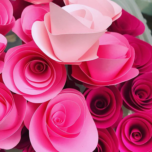 Pretty In Pinks - Handmade Paper Roses