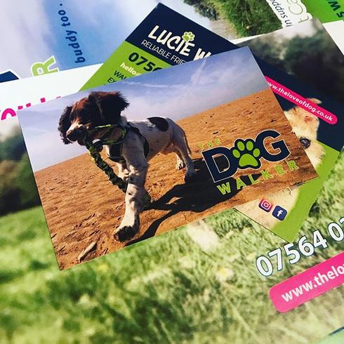 The Dog Walker Business Card Design