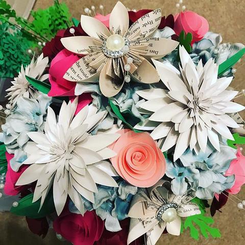 Handmade Wild Wedding Paper Flower Bouquet