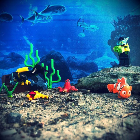 Underwater Lego Photography