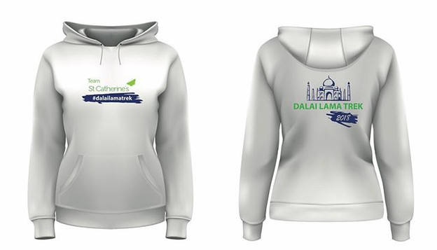 Hoodie Logo Design For St Catherines India Charity Trek