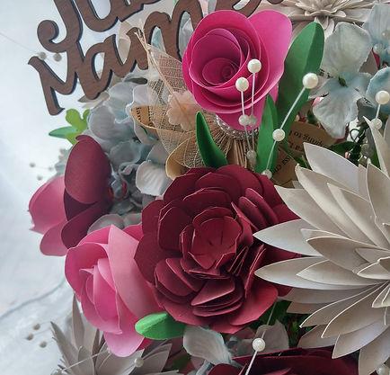 Handmade paper flower wedding bouquet