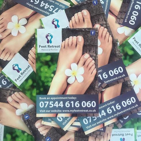 Feet Retreat Flyer & Leaflet Design
