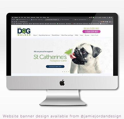 The Dog Walker website design